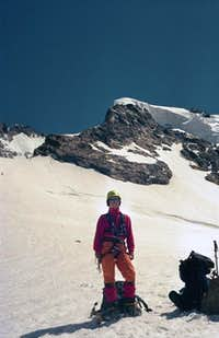NW-ascent ('ice nose') to Piz...