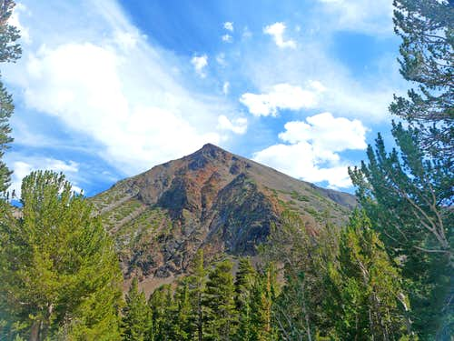 South Peak from the trailhead