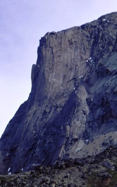Mt. Tirokwa\'s headwall.