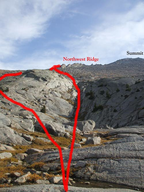 Upper Northwest Slopes Options on Dog Tooth Peak