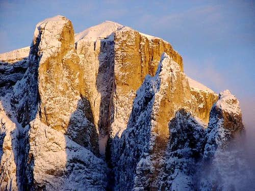 Sella Towers seen from Passo...