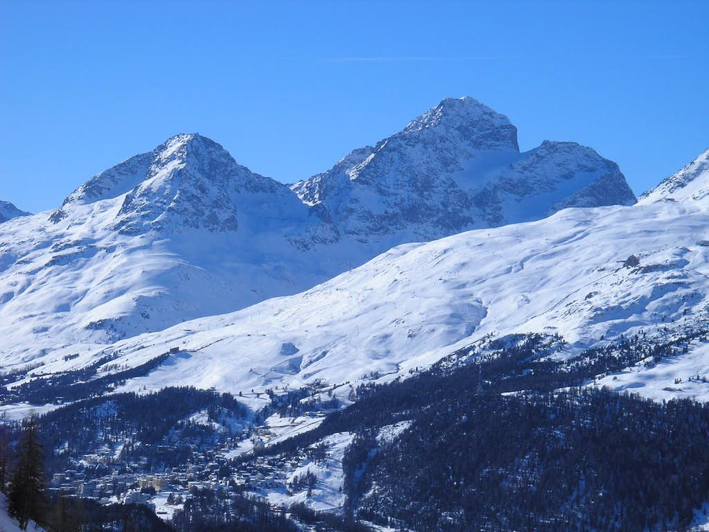 Piz Albana 3100m (left) and Piz Julier 3380m (right)