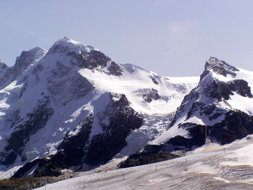 Breithorn and the Little Matterhorn