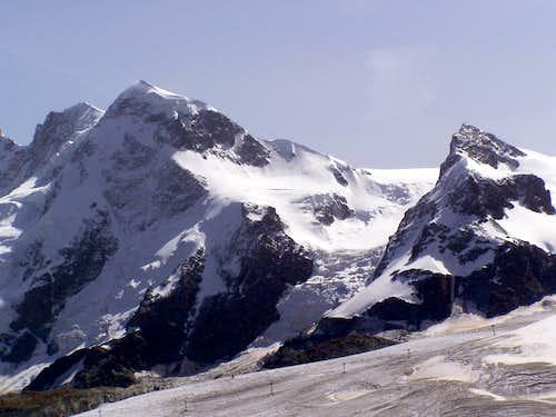 Breithorn and the Little Matterhorn