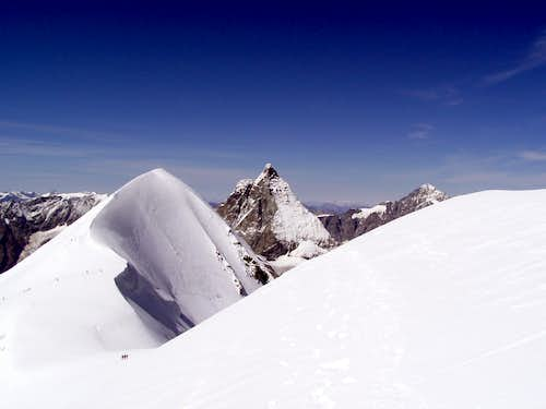 Nice couple: Breithorn and Matterhorn