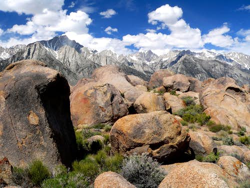 "Lone Pine Sierra from ""Cobra Hill"", Alabama Hills"