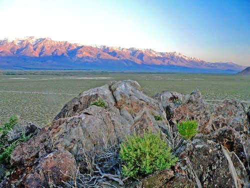 First light on the Sierra east of Independence