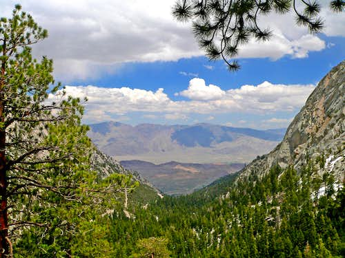 Owens Valley and the Inyo Mtns. from the Mt. Whitney trail