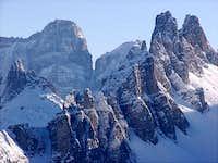 Monte Pelmo 3168m and Croda...