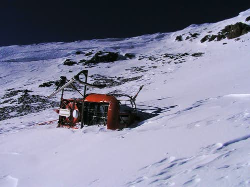 Cerro Plata, helipcopter