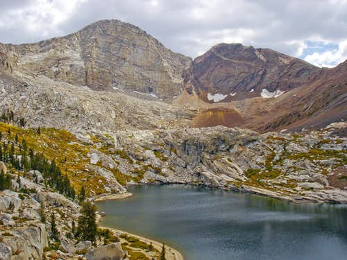 Florence Peak and Florence Lake