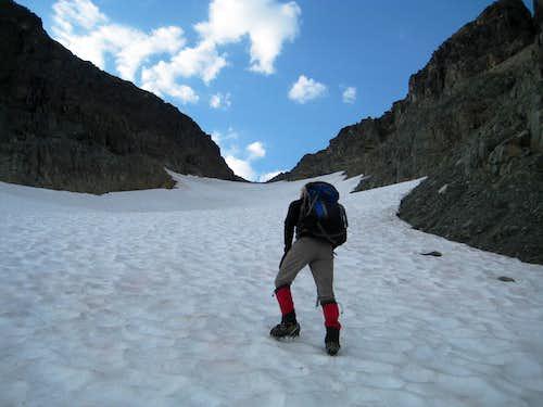 Climbing the N Glacier