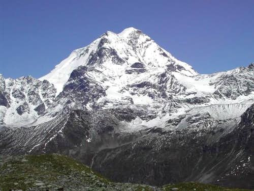 Grand Combin <i>4314m</i> seen during the Tour of Pointe de Drône