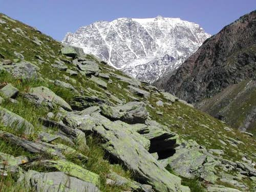 Mont Velan <i>(3734m)</i> from the Tour de la Pointe de Drone