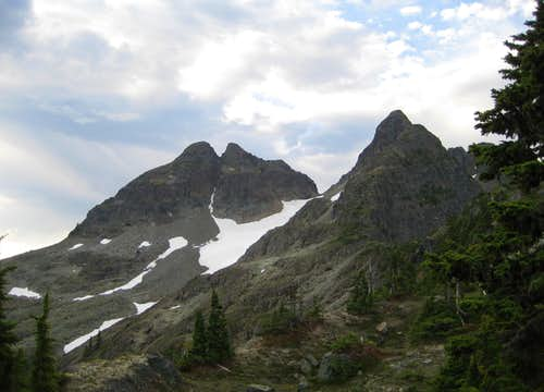 Crown Mountain: N Glacier/West Gully Route