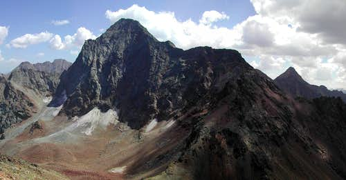 Emilius <i>(3559 m)</i> and Punta Garin <i>(3448 m)</i>  from the summit of Becca di Nona <i>(3142 m)</i>