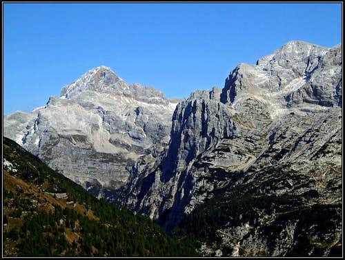 Triglav and Kanjavec from Cez Drt pass