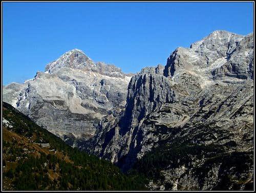 Triglav and Kanjavec from Cez Drt pass