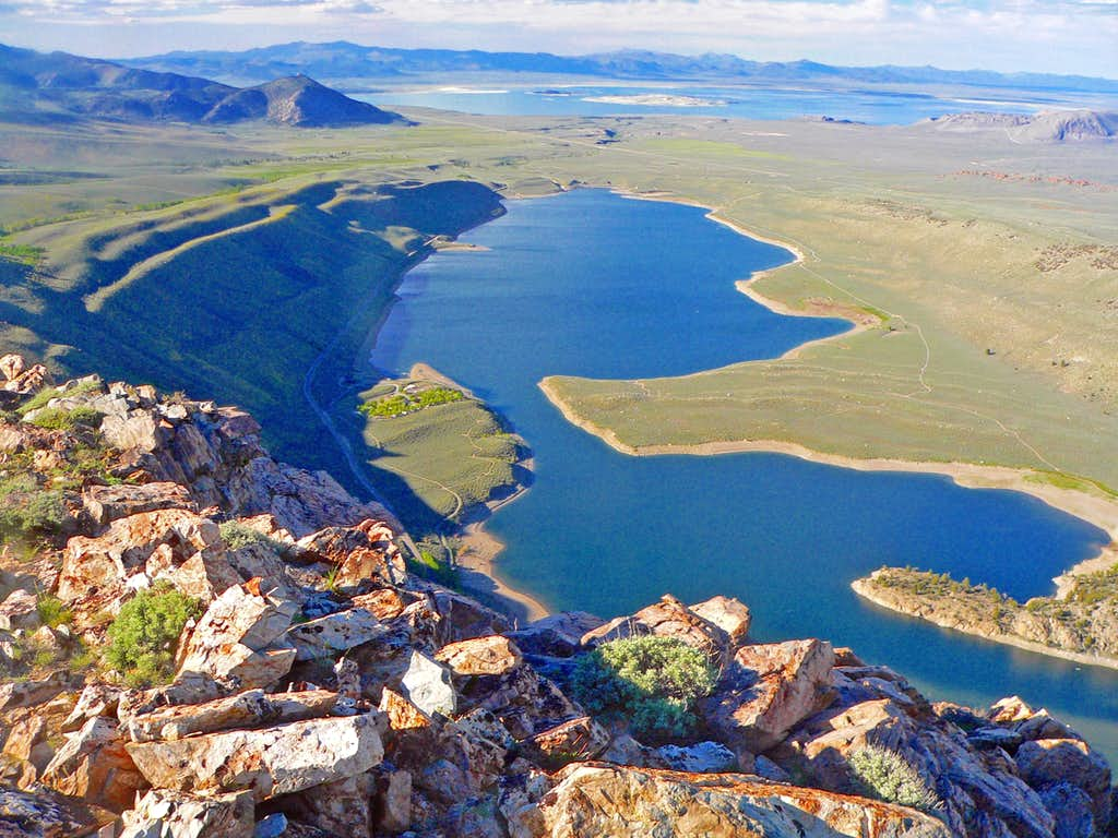 Grant Lake and Mono Lake from Grant Point