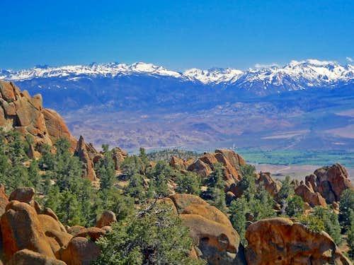High Sierra crest from Casa Diablo