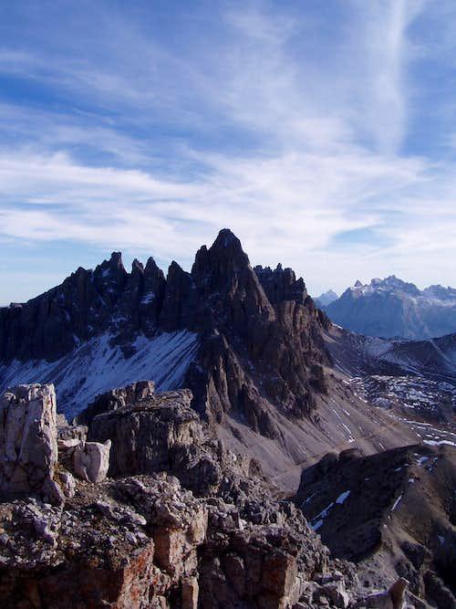 Monte Paterno from Torre di Toblin