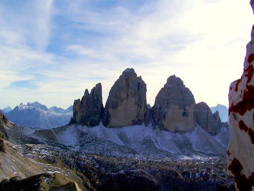 Tre Cime from Torre di Toblin