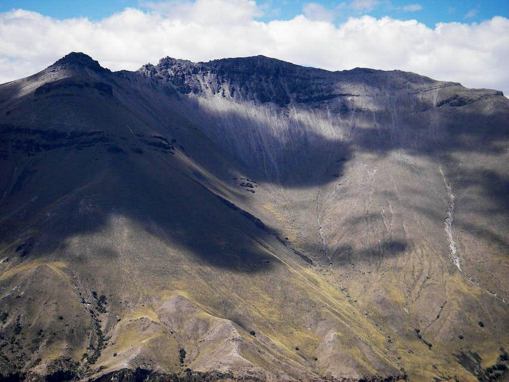 Cerro Santa Rosa From Above Achambi