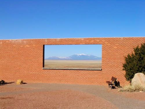 San Francisco peaks framed in...