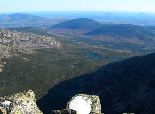 looking NE from baxter peak