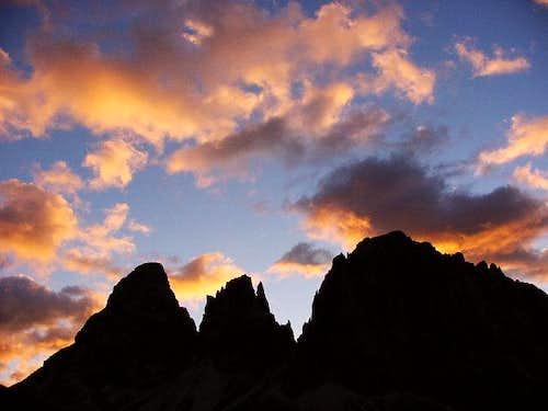 Sunset on Passo Sella 2213m:...