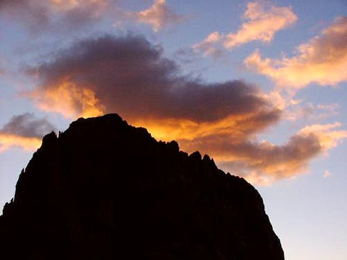 Sunset on Passo Sella 2213m:...