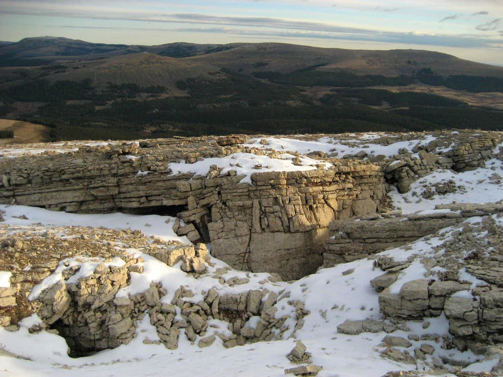 Rock Formations on Medicine Mountain