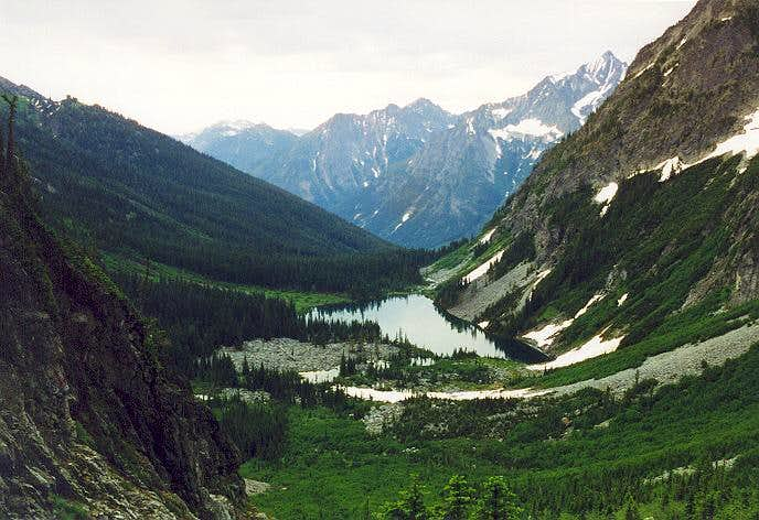 Holden Lake (5,278 ft) from...