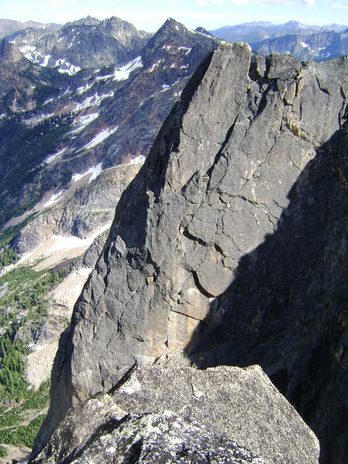 View of Direct East Buttress from NEWS... Pitches 8-10