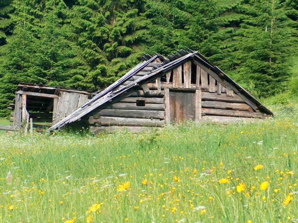 Hut at Podžiar pass