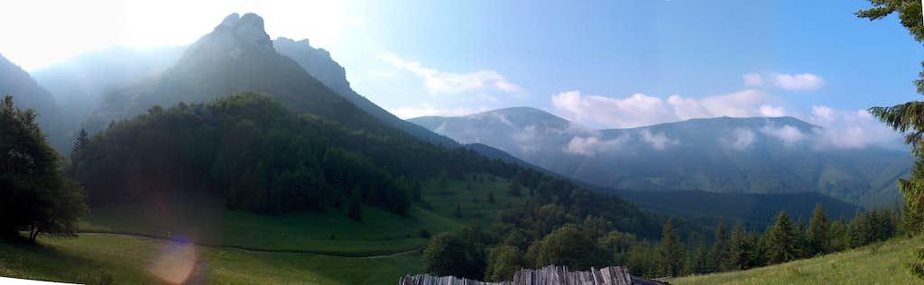 Rozsutec from Podžiar pass