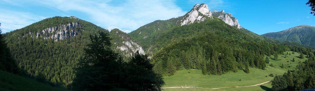 Out of Horné Diery, near Podžiar pass, view to Rozsutec