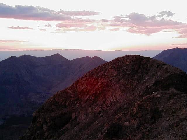 Sunset from 14,000 ft. High...