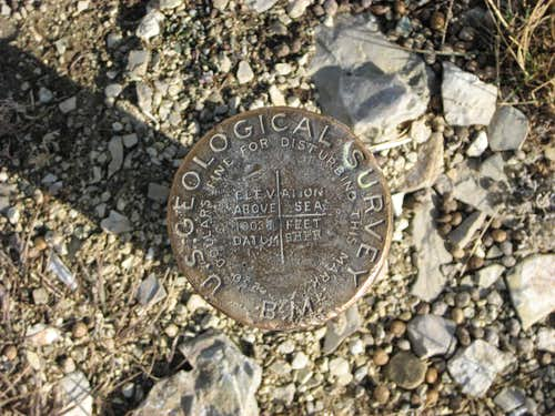 Bald Mountain summit marker
