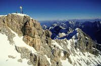 The Summit of Zugspitze and...