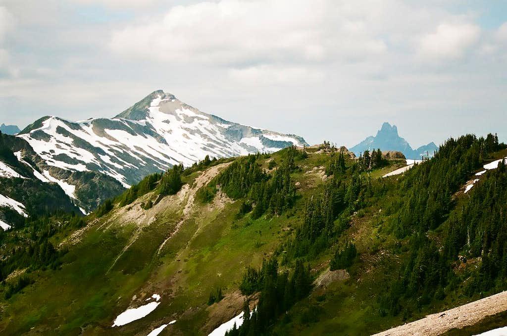 Peak 7305 from Hannegan Peak.