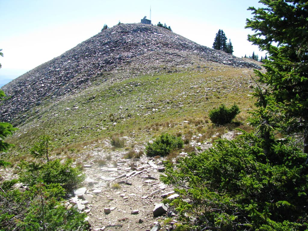 The peak of Bridger Peak