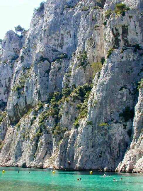 The crags at En Veau in the...