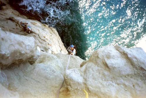 Rapping down at the Calanques...
