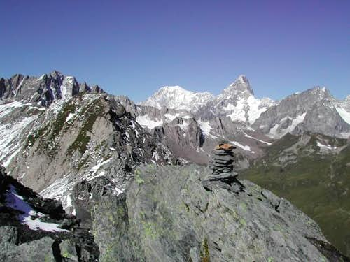 View from the summit of Tête Fenêtre de Ferret <i>(2823 m)</i>