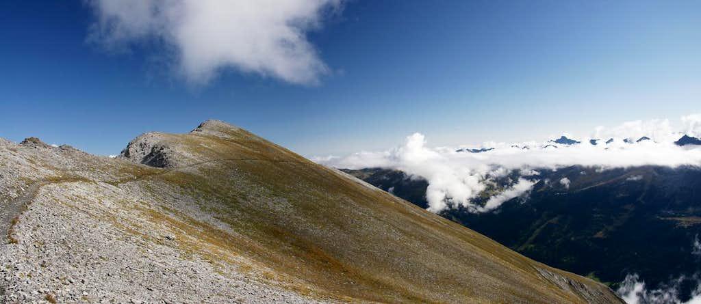 Piz Lad summit ridge