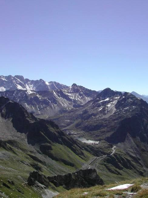 Gran San Bernardo Pass  seen from Tête Fenêtre de Ferret <i>(2823m)</i>