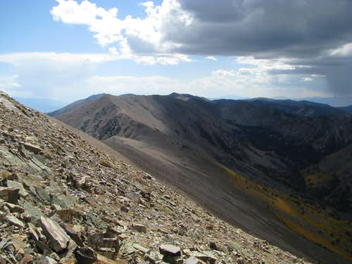 Looking south from summit