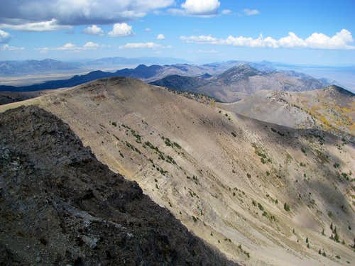 North along the spine of the Schell Creek Range