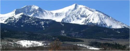 Mount Sopris from muddy...